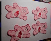 Reserved for Darleen --4 Carebear appliques   in 4x4 size --