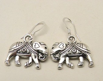 Steampunk elephant earrings.