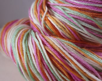 Rainbow Sherbet Self-Striping Superwash Sock Yarn