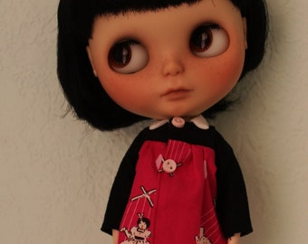 Smock dress for Blythe or Licca