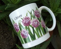 Vintage Chives Ceramic Mug