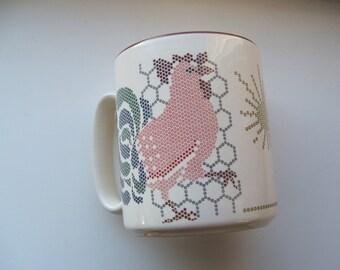 Vintage Sunrise Rooster Ceramic Mug