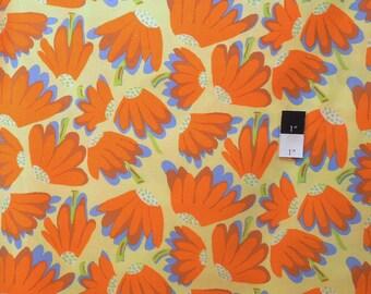 Brandon Mably PWBM044 Lazy Yellow Cotton Fabric By The Yard