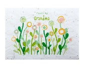 Seeded paper greeting card - Flowers for Grandma