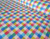 SALE -- Vintage Multi Color Check Retro Fabric Yardage - VIP Cranston Printworks
