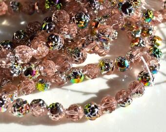 Rosaline PInk Marea 8mm ROse Beads  25
