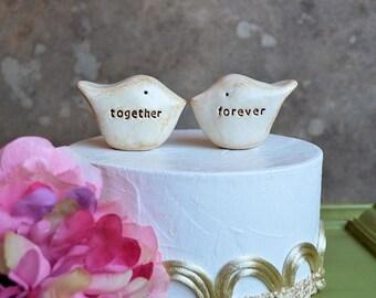 Wedding cake topper...Love birds... together forever