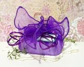 Lavender and Chamomile Shea Butter Soap in a purple organza wrap bag, Essential Oil Soap 5 oz