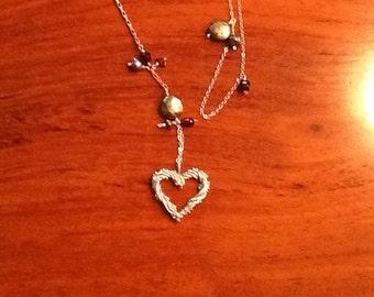 LARIAT STYLE Necklace STERLING Handmade Original
