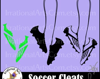Soccer Cleats PNG EPS & SVG Vinyl Ready images digital cilipart graphics [Instant Download]