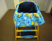 Restaurant High Chair Seat Cover   Sponge Bob Blue PRICE REDUCED