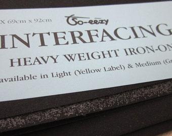 Black Heavyweight Iron-on Interfacing