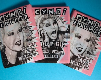 Cyndi Lauper Trading Cards Stickers / Nostalgia / 80s / DEAD STOCK / Kawaii / Punk