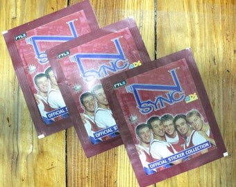 Nsync N'SYNC Stickers Scrapbooking 90s Nostalgia Dead Stock! Italian Made! JT Justin Timberlake