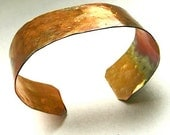 Hand Forged Cuff Oxidized Copper Rustic Bracelet Eco Friendly Jewelry for Men and Women