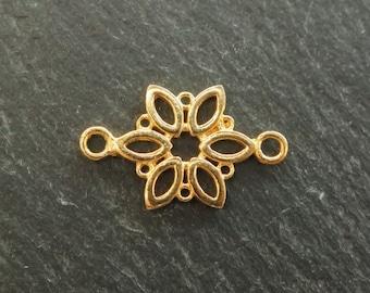 Gold Vermeil Flower Connector 19.5mm (CG7074)
