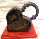 Stoneware Heart Lock