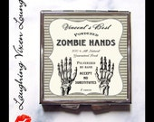 Zombie Compact Mirror - Zombie Pill Box - Potion Label Zombie Hands Compact - Zombie Mirror - Magic Potion - Magic Spell - Witch Potion