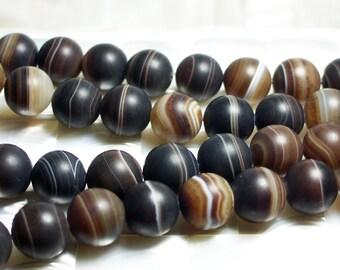 14mm 28pcs Madagascar Swirl Brown Agate Gemstone Bead Strand Brown Multi Color Tan Cream Black Gray Jewelry/Jewellery/Craft Beads/Supplies