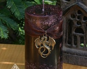 Dragons Blood . 2x3 Pillar Candle . Pure Golden Seal Resins