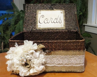 Lace Basket Card Holder