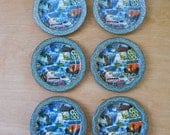 Vintage Souvenir Coasters • Metal Arizona Coasters