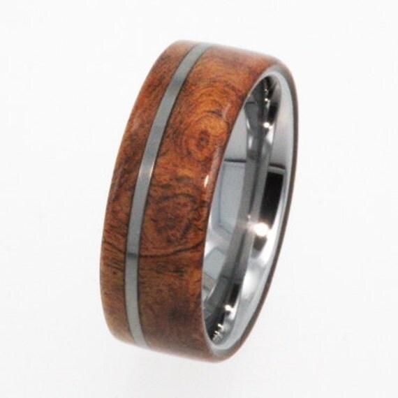 Tungsten Wedding Rings: Tungsten Ring / Tungsten Wood Wedding Band / By Jewelrybyjohan