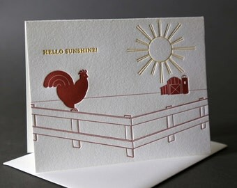 Rooster Hello Sunshine