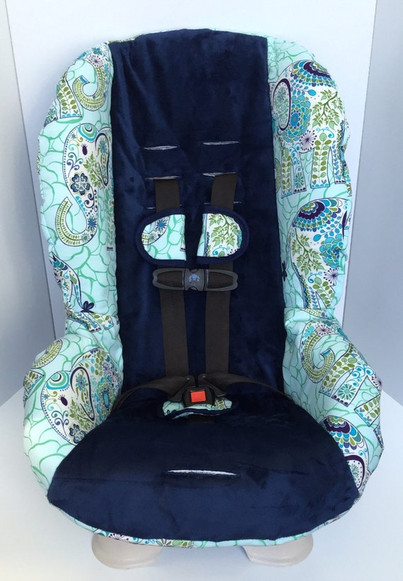 britax replacement car seat cover with matching accessories karavan elephants blue navy center. Black Bedroom Furniture Sets. Home Design Ideas