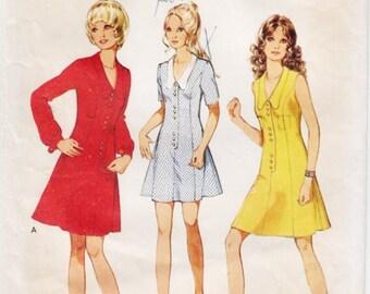 Vintage Pattern Style 2818 Misses' Dress  70s Size 12 B34