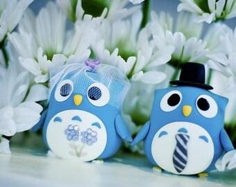 Owls Wedding Cake Topper with swarovski crystals---k534