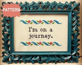 PDF/JPEG I'm on a journey - Girls Quote (Pattern)