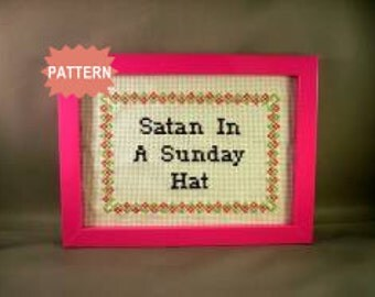 PDF/JPEG Satan In A Sunday Hat (Pattern)