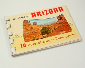 Northern Arizona Natural Color Cards, Photos, Ektachrome Spiral Bound Card Album, Devils Tea Pot, Grand Canyon, Oak Creek Canyons  (196-15)