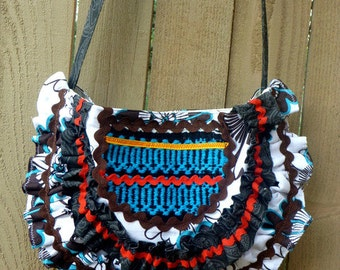 boho chic handbag, hobo bag, tribal bag, bohemian bag, Aztec bag, western chic handbag, southwestern bag, cross body bag, shoulder bag
