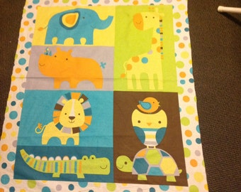 Circus animal whimsical quilt