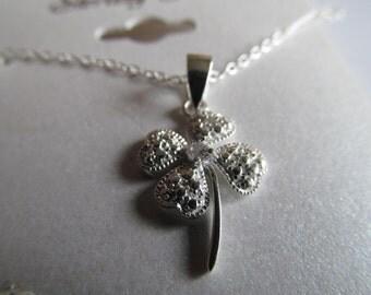 sterling silver 4 leaf clover