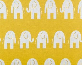 Elephants Ele Corn Yellow White fabric | Home Dec Cotton Slub | Premier Prints