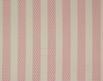 1960's Vintage Wallpaper Pink and White Stripe