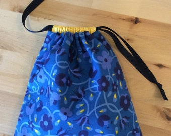 Drawstring Bag - Small Project Bag - Cotton Bag