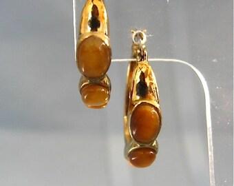 Vintage Monet Gold Hoop Earrings