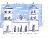 Katapola ~ original watercolor