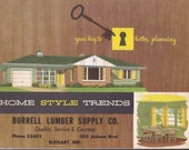 Modern Ranch Homes Planning Booklet Home Style Trends 1954