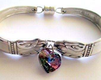 "Silverware Bracelet made from ""Danish Princess"" pattern from 1938"