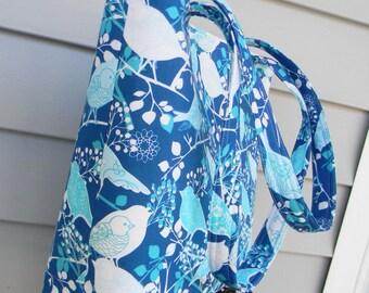Aqua Tote Bag, Every Day Bag, Diaper Bag Ready to Ship