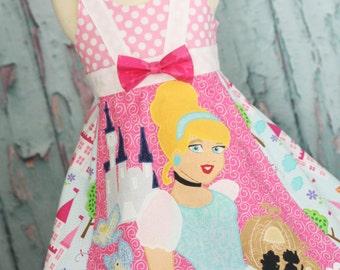 Girls Disney Cinderella Dress Ready custom size 3 4 5 6 7 8 9 10