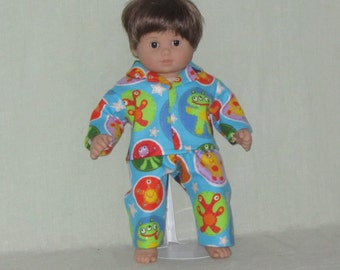 American Girl Bitty Baby Twin Boy Doll Pajamas Space Alien
