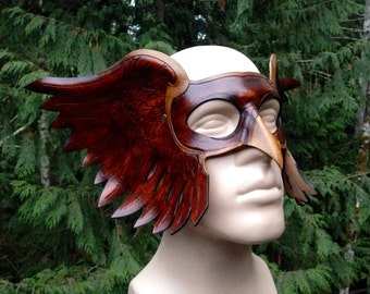 Leather Hawk man mask