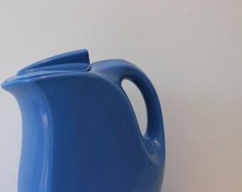 Vintage 1940s Delphinium Blue Hall Ceramic Water Pitcher