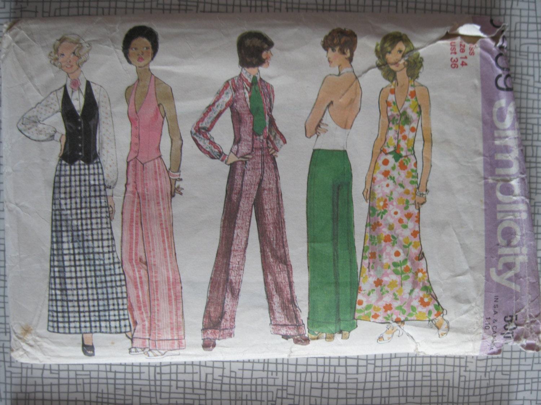 2fbcda953 1972 Blouse Halter-Vest Pants Trousers & Skirt - 36